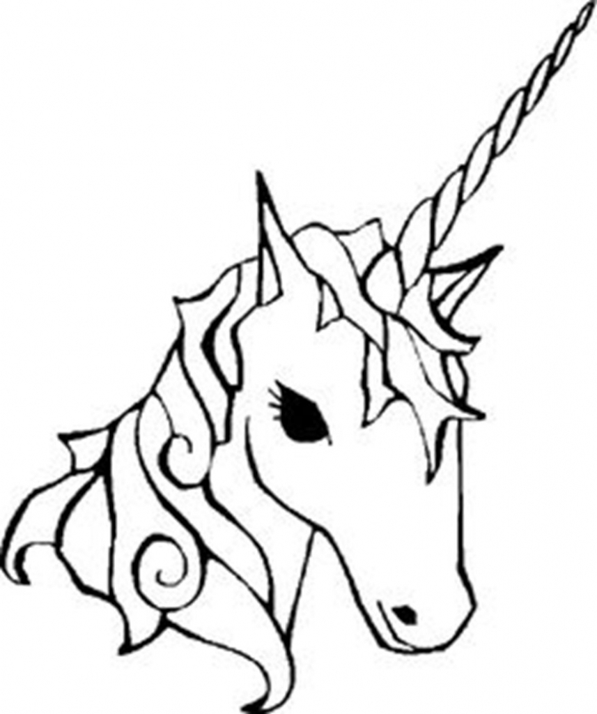 Simple Unicorn Drawing | Free download on ClipArtMag