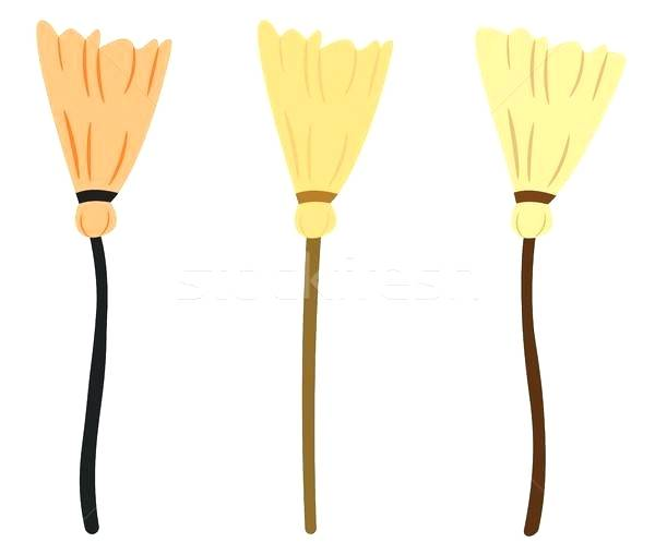 600x508 broom drawing broom vector drawing in flat style