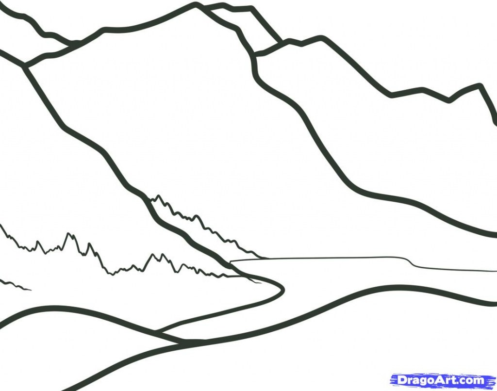 Simple Village Drawing