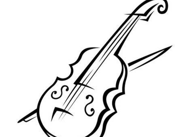 Simple Violin Drawing | Free download best Simple Violin