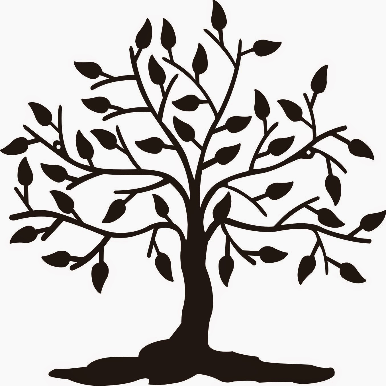 Simple Willow Tree Drawing   Free download on ClipArtMag