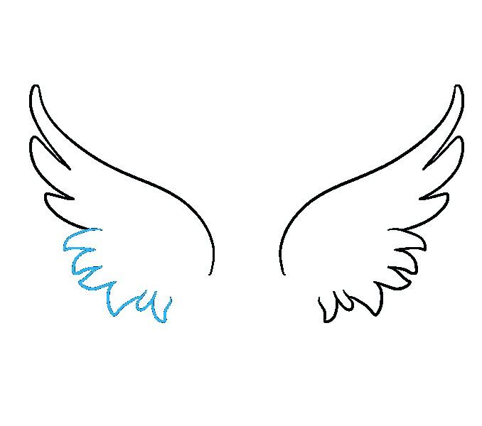 Wings easy. Simple drawing free download