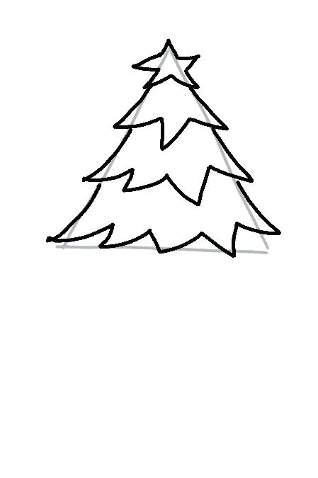 449x675 line drawing christmas tree drawn tree christmas tree line drawing