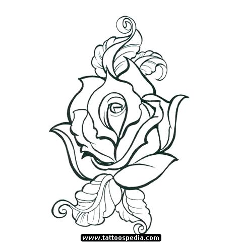 480x480 Simple Rose Outline Clip Art Images Silhouette At Free