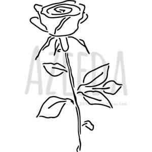 300x300 'single Rose' Wall Stencil Template