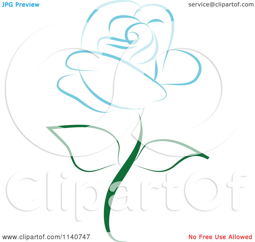 1080x1024 Clipart Of A Beautiful Single Blue Rose