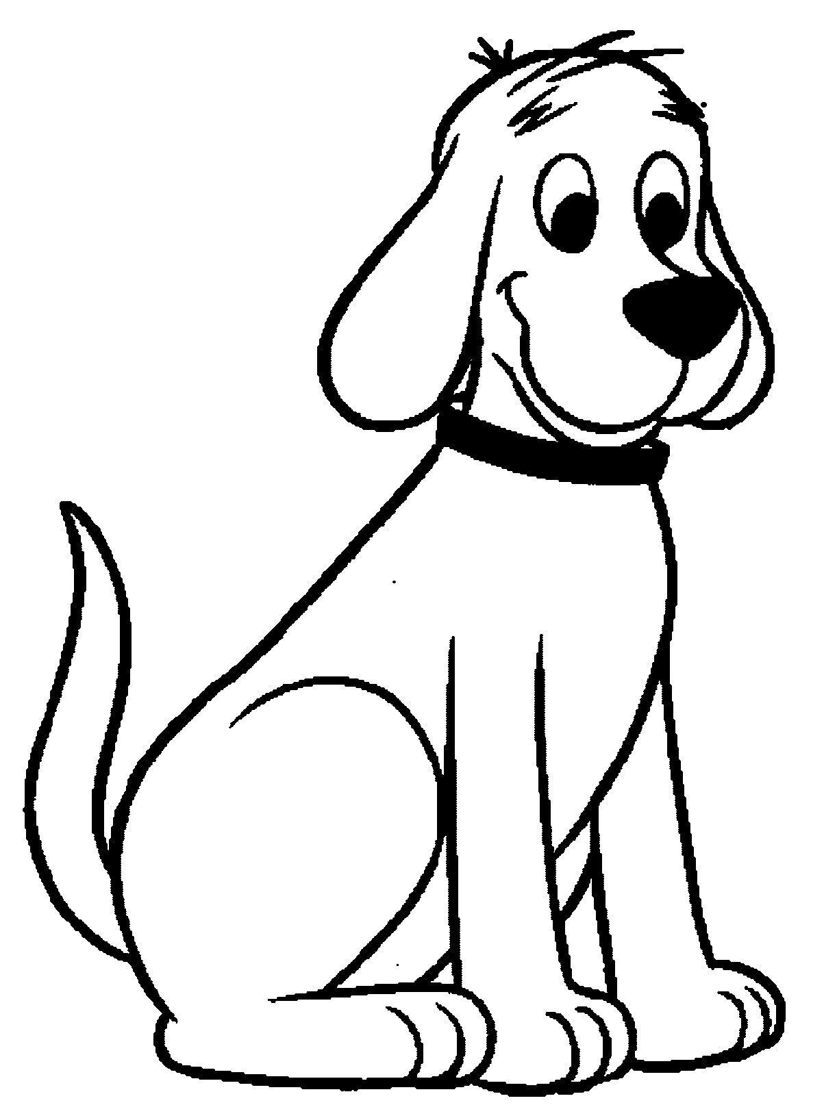 Sitting Dog Drawing   Free download on ClipArtMag