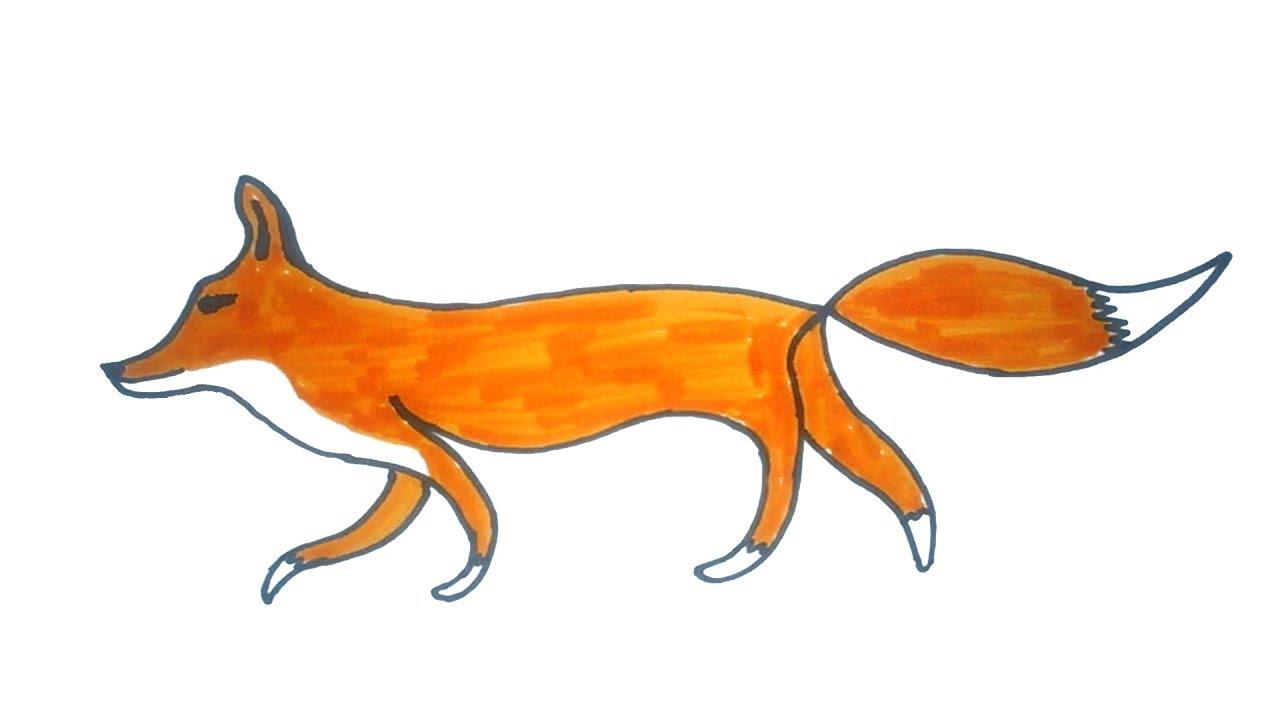 1280x720 Fox Drawing Free Download