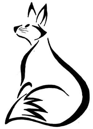 300x418 Fox Drawing Tribal, Picture