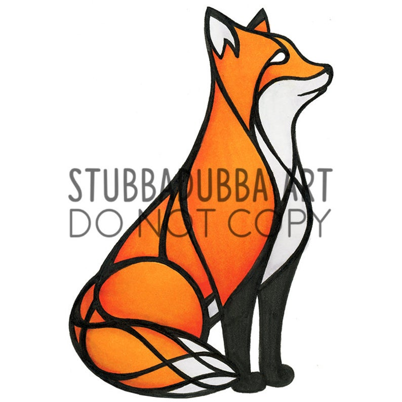 794x794 Red Fox Sitting Etsy