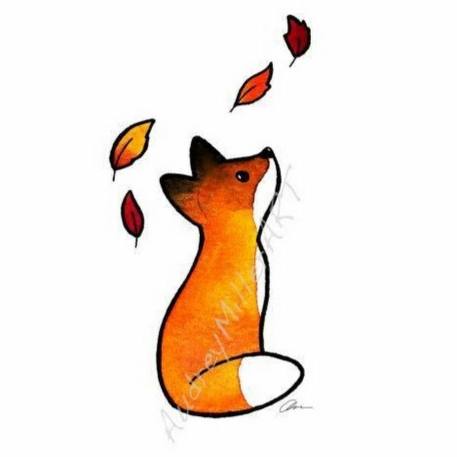 900x900 Sitting Fox Drawing