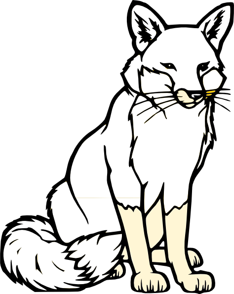 474x595 Sitting Fox Silhouette Clip Art Black And White Fox Clip Art