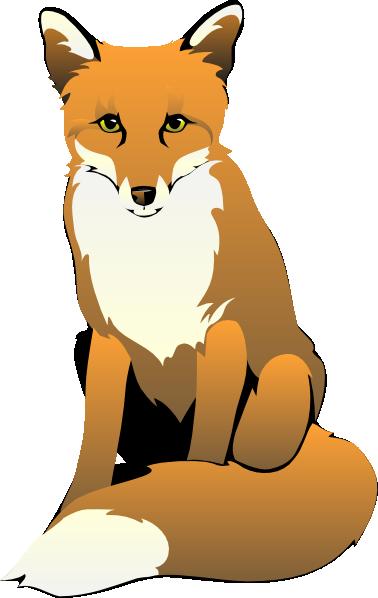378x598 Baby Fox Sitting Clip Art Fox Clip Art Foxes