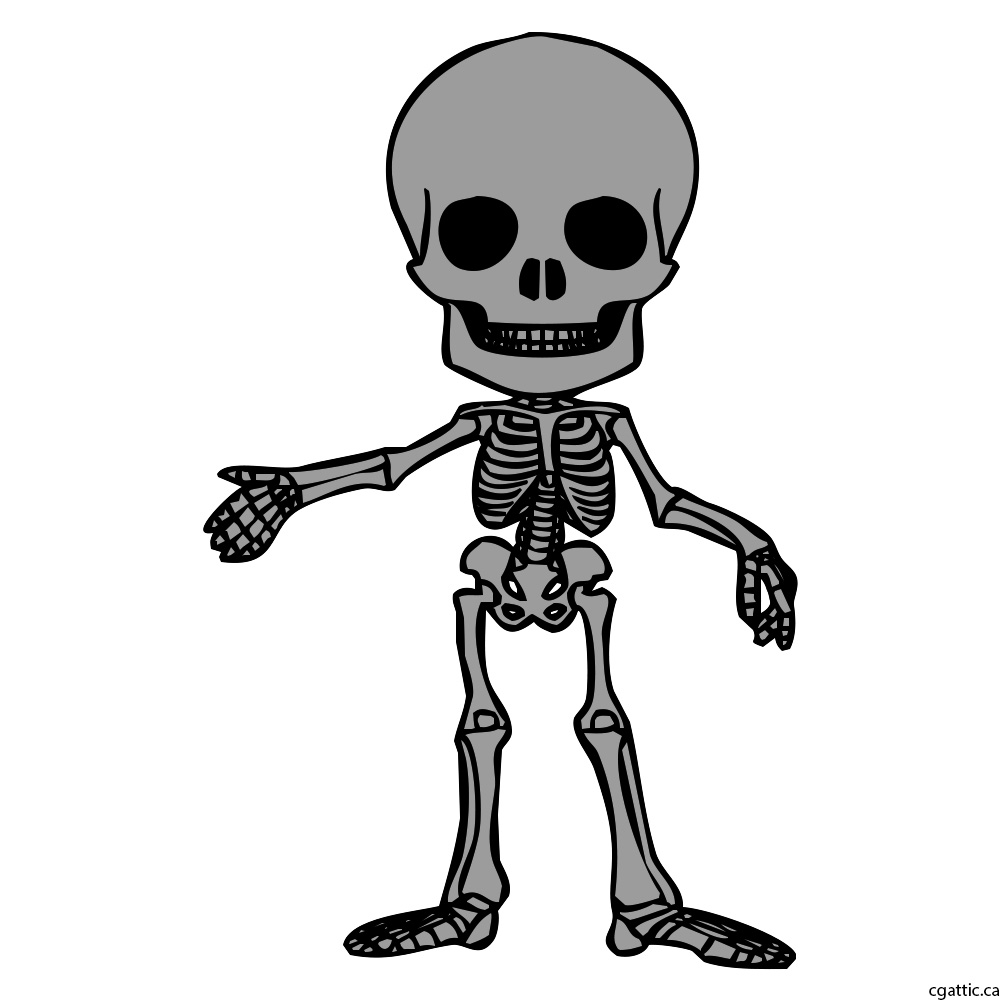 1000x1000 Cartoon Skeleton Drawing In Steps With Photoshop