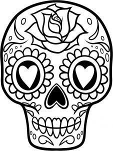 226x302 how to draw a sugar skull easy step art skull, sugar skull