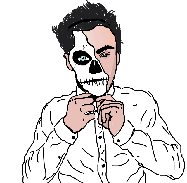 640x629 Drawing Halloween Skeleton Transparent Png Clipart Free Download