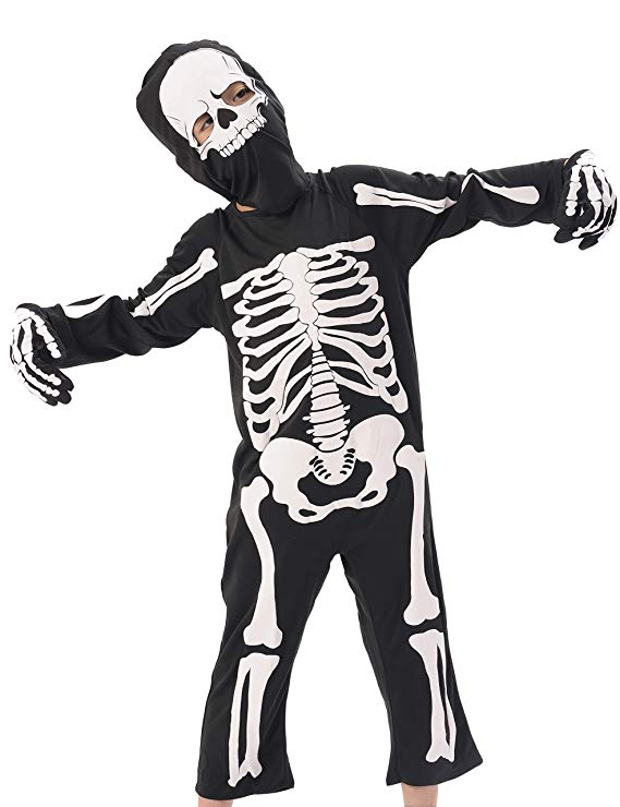 569x740 Ikali Kids Skeleton Costumes, Halloween Scary Dress Up