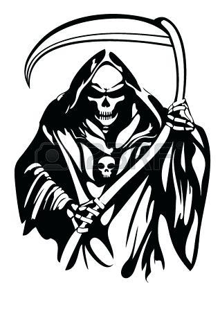 318x450 Drawing Of Grim Reaper Drawing The Grim Reaper Step