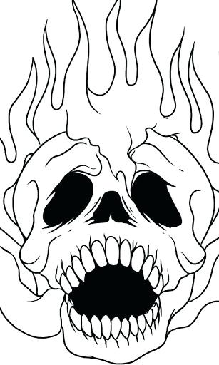 307x512 Easy Skeleton Drawing Ways To Draw A Skull Easy Skeleton