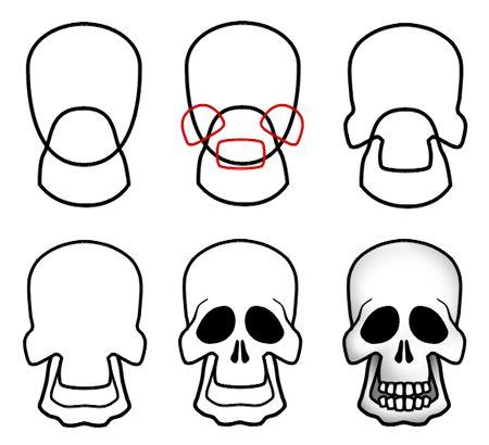 450x410 How To Draw Cartoon Skulls In Drawthings Cartoon Drawings