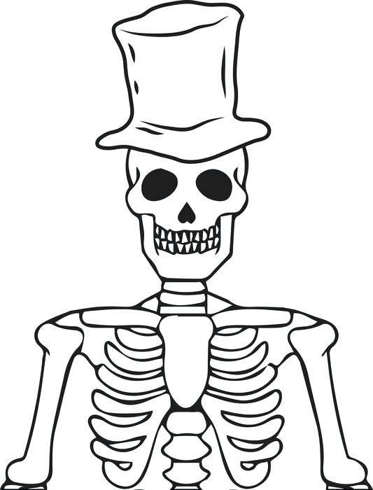 533x700 Coloring Pages Skeleton Coloring Pages To Print Human Printable