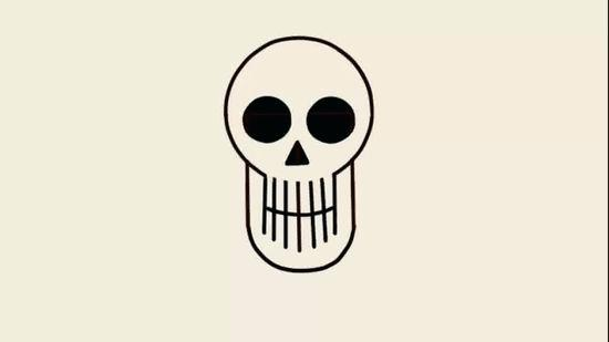 550x309 how to draw a skeleton head drawing skeleton how to draw skeleton