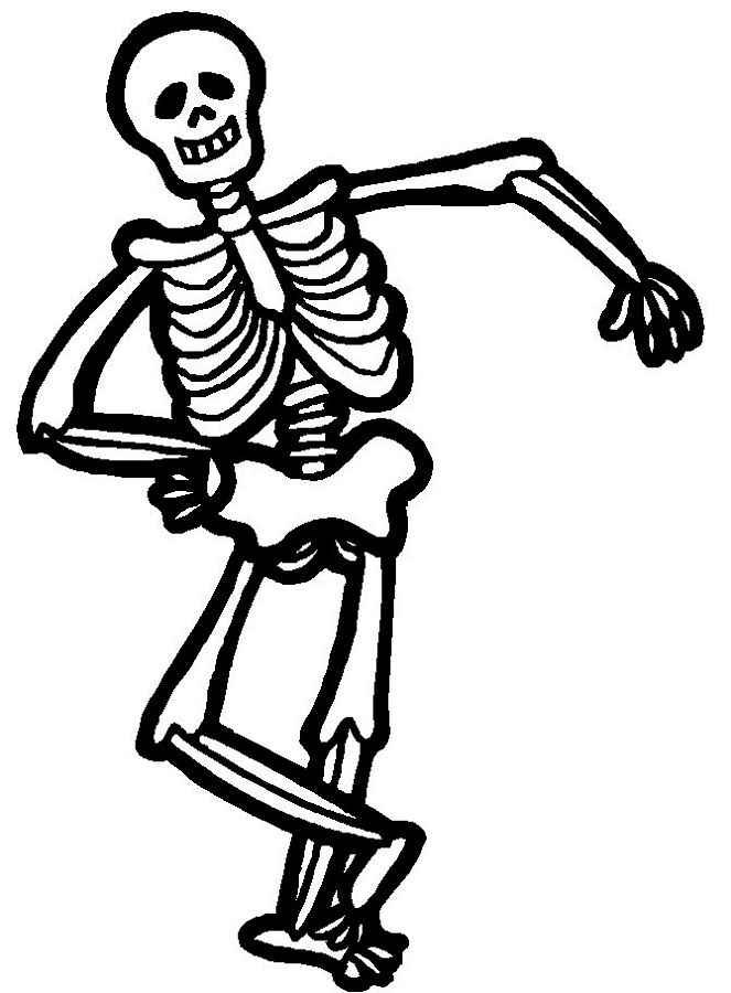 663x900 Huge Collection Of 'halloween Skeleton Drawing' Download More