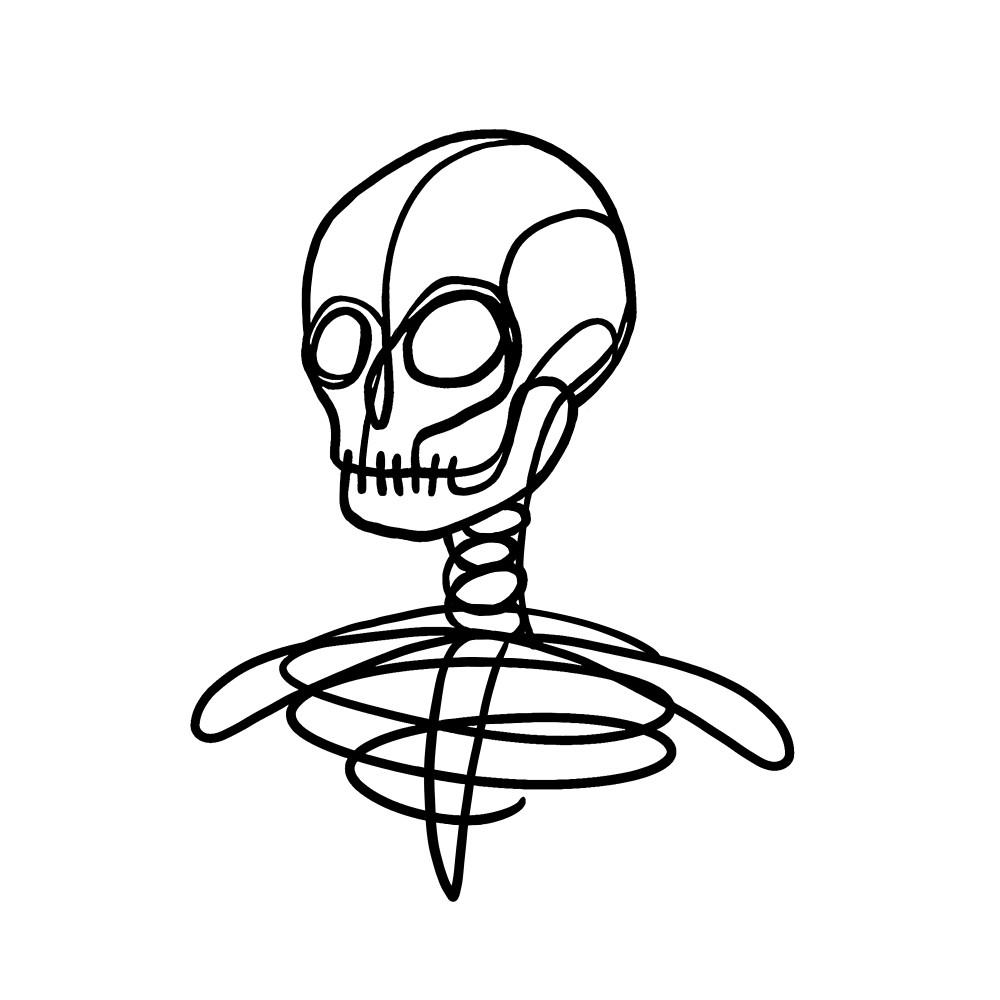 1000x1000 Simple Skeleton