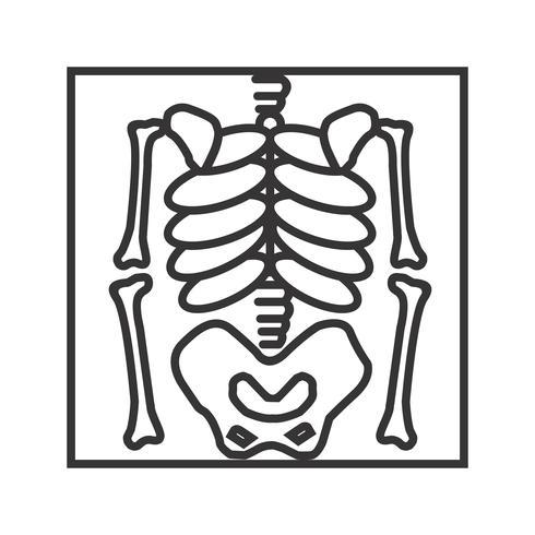 490x490 Skeleton Line Black Icon