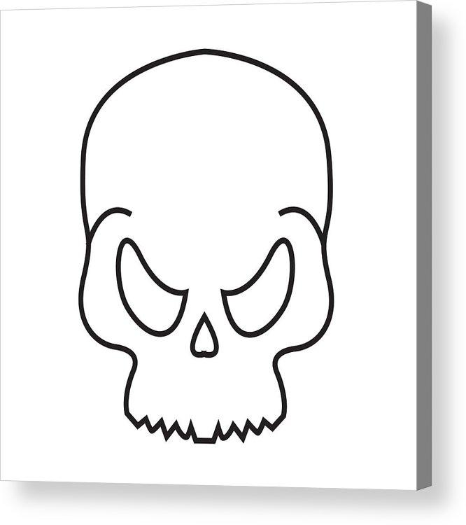 666x750 Thin Line Skeleton Icon Acrylic Print