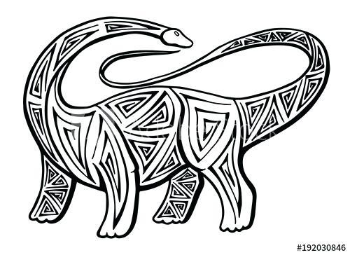 500x364 Brachiosaurus Drawing Brachiosaurus Skeleton Drawing