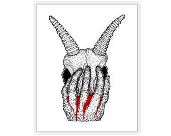 340x270 Gazelle Skull Etsy