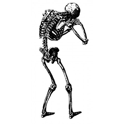500x500 Crying Skeleton Back Tattoo Idea Piercings And Body Adornment