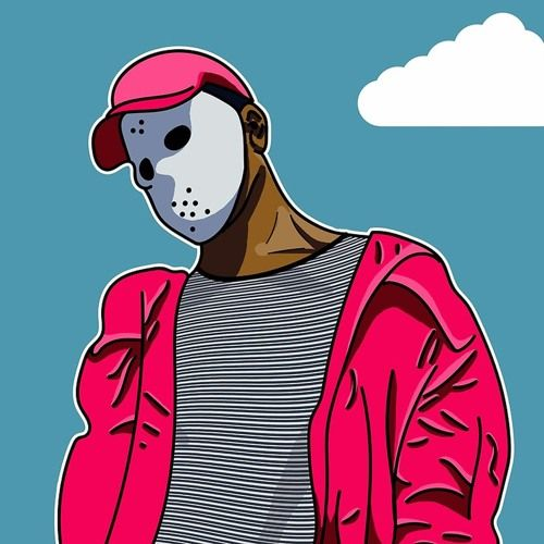 500x500 cover art ideas skiing, rapper art, skii mask
