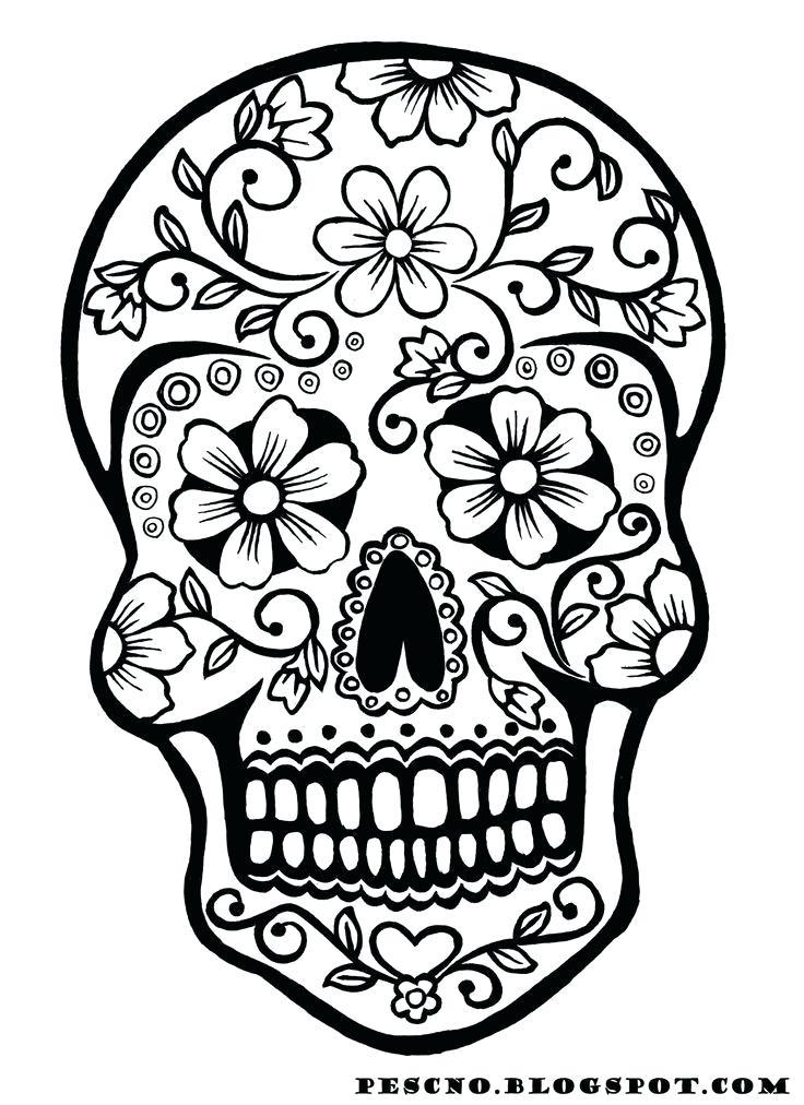 736x1012 simple sugar skulls simple sugar skull clip art sugar skull art