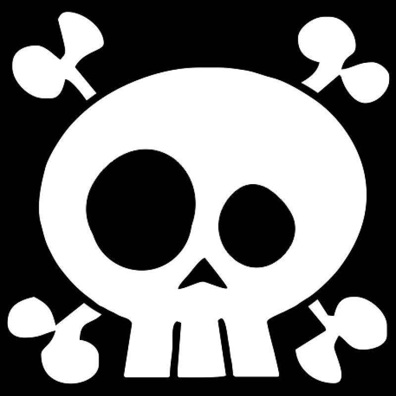 Skull Crossbones Drawing