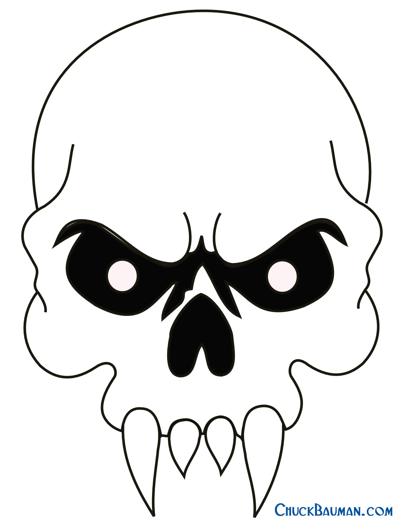 1383x1808 How To Draw A Simple Skull Easy Drawings Free Download Clip Art