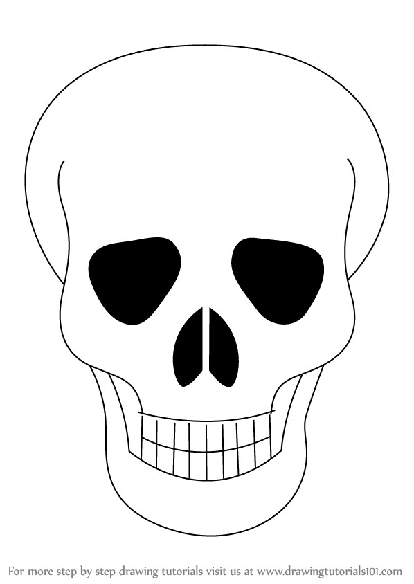 598x844 How To Draw Skull Easy Step Within Skull Drawing Easy