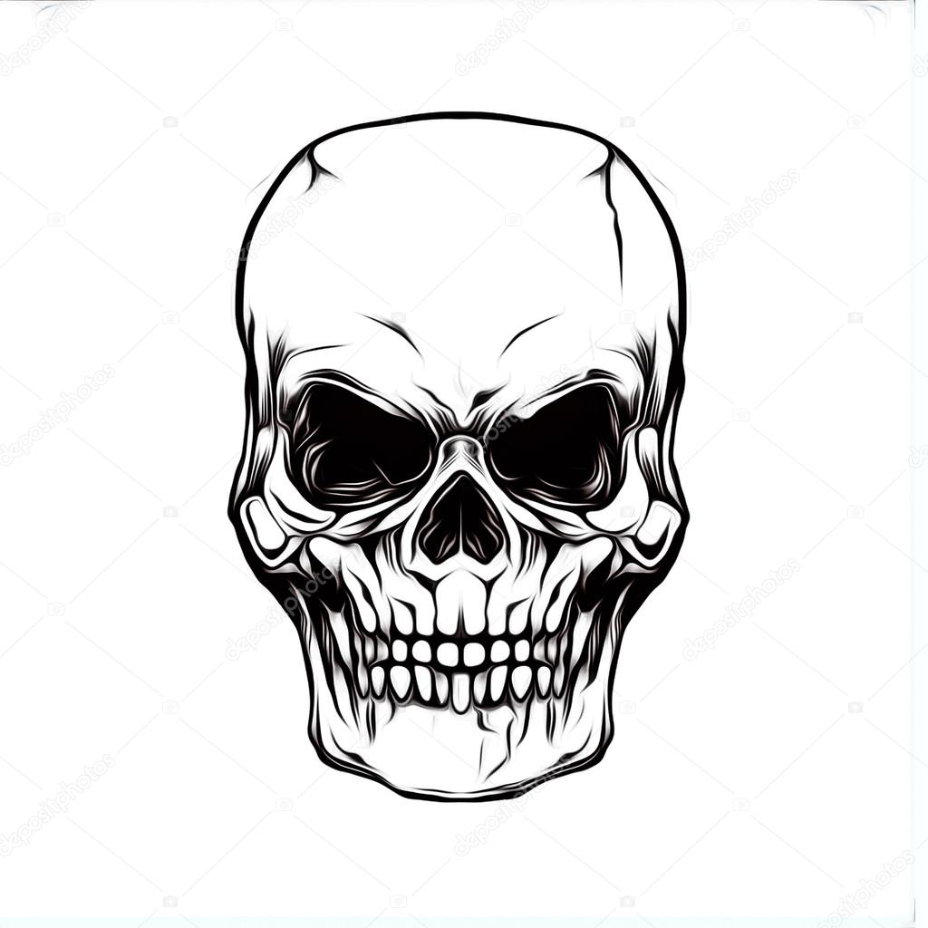 1024x1024 Huge Collection Of 'evil Skull Drawing' Download More Than