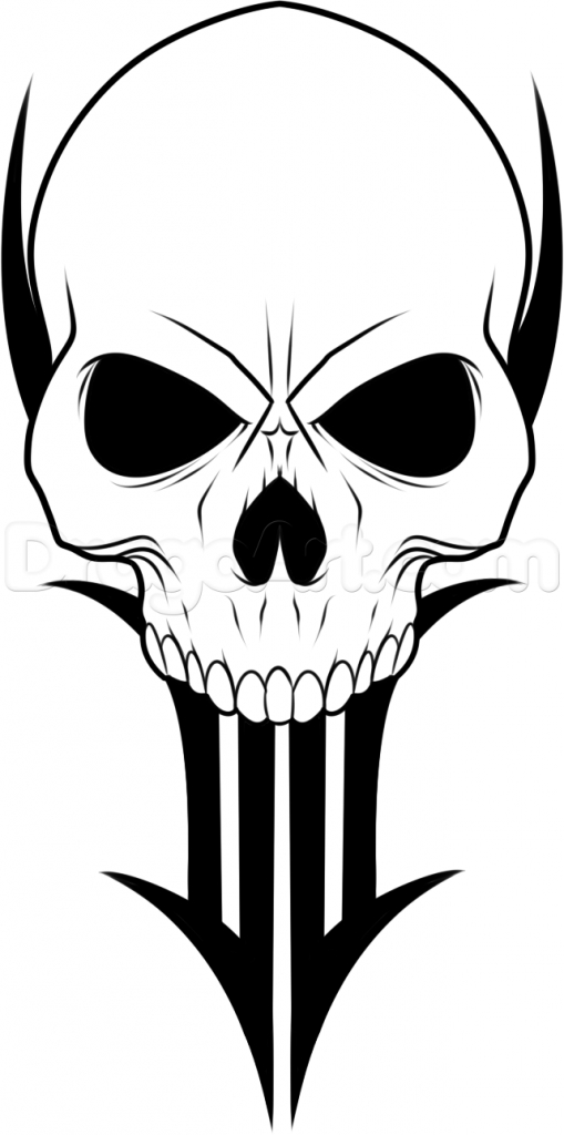 509x1024 Simple Skull Drawing Free Download Clip Art