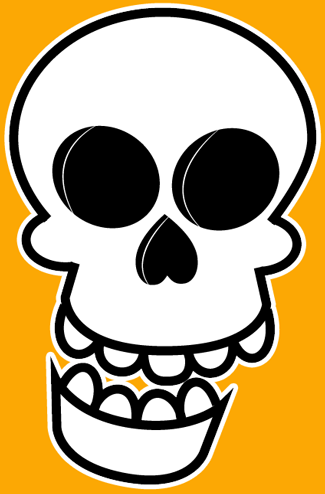 325x494 How To Draw A Cartoon Skull On Fire