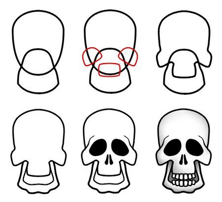 450x410 How To Draw Cartoon Skulls In Drawing Cartoon Drawings