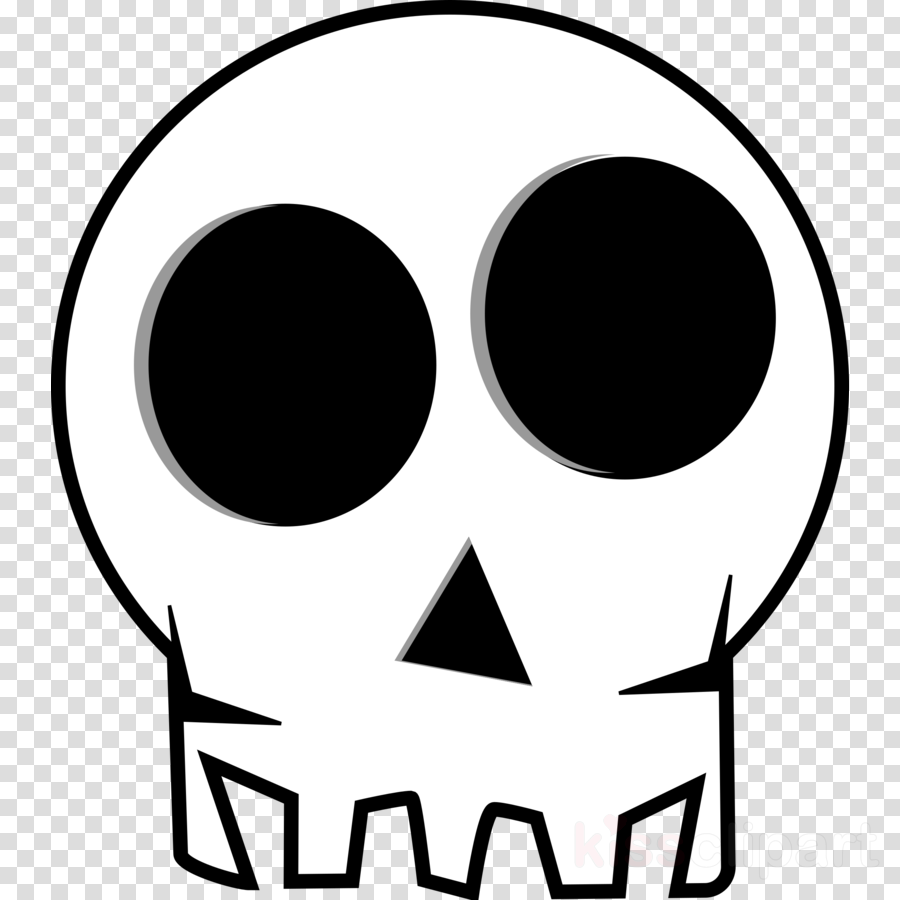 900x900 Skull, Drawing, Cartoon, Transparent Png Image Clipart Free Download
