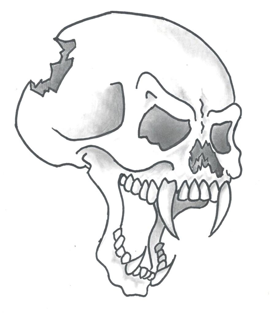 880x1024 Cartoon Skull Drawing Skull Drawing Cartoon Skulls Drawings