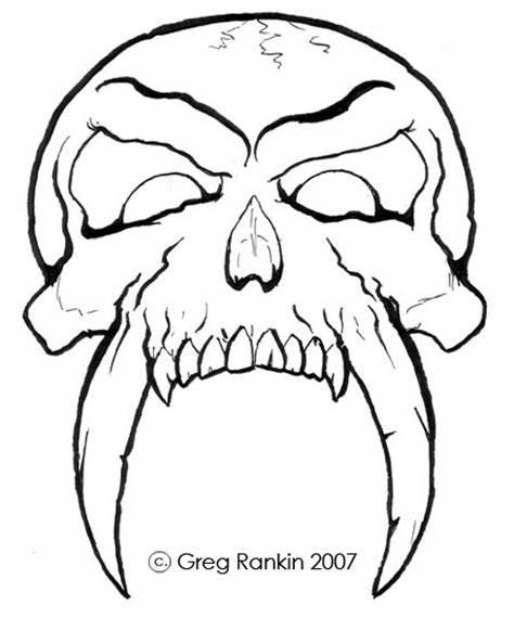 474x582 Easy Cool Skull Drawings