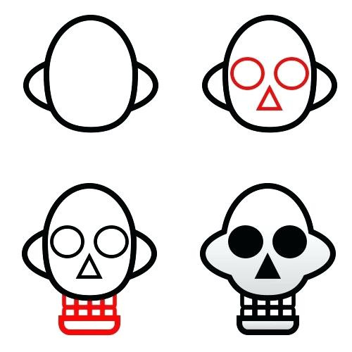 500x500 How To Draw A Skull To Draw Skulls Easy Draw Skull Tattoos Zupa