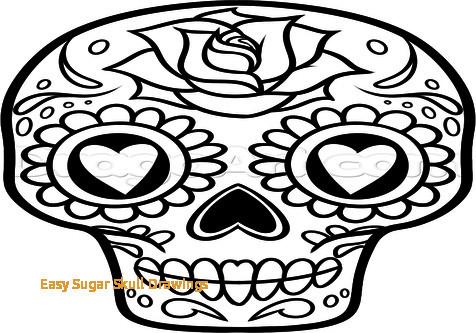 476x333 How To Draw A Sugar Skull Woman Easy Sugar Skull Drawings How