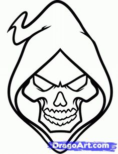 235x306 Talented Easy Skull Tattoo Designs To Draw In Inspiration