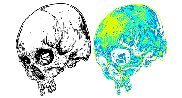 600x323 Out Of Body' Skull T Shirt On Behance