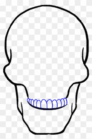 320x481 How To Draw A Skull Step